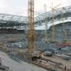 Строительство стадиона близится к завершению