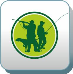 эмблемы охотников и рыболовов